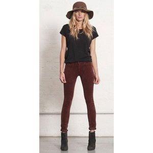 RAG & BONE Burgundy Corduroy Skinny Jeans 26